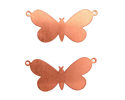 Copper Butterfly Link Blank 38x18mm