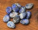 Midnight Blue Impression Jasper Teardrop 18x25mm