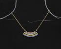 Zola Elements Antique Gold (plated) Fairy Garden Arc Pendant 42x16mm