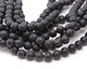 Black Onyx (matte) Faceted Round 10mm
