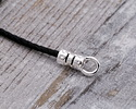 Silver (plated) Crimp Cord End 1.5mm