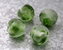 African Recycled Glass Clear & Green Tumbled Rondelle 30-32x34-36mm