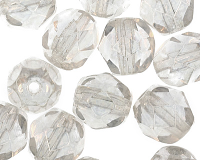 Czech Fire Polished Glass Luster Crystal Round 6mm