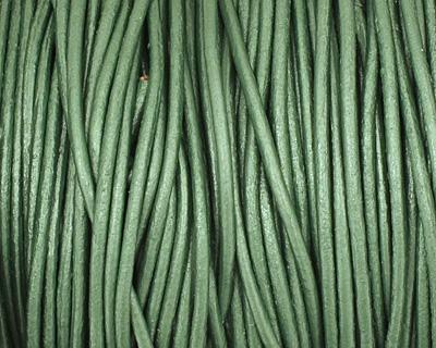 Lawn (metallic) Round Leather Cord 1.5mm