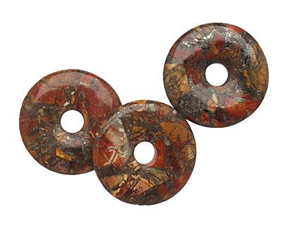Red Creek Jasper w/ Pyrite Donut 50mm
