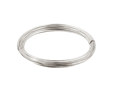 German Style Wire Silver (plated) Square 22 gauge, 3.5 meters