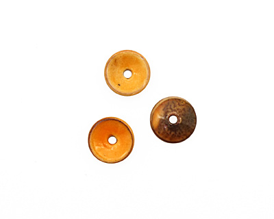 C-Koop Enameled Metal Mandarin on White Chip 3-4x12-13mm