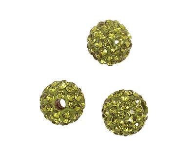 Olivine Pave Round 8mm (1.5mm hole)