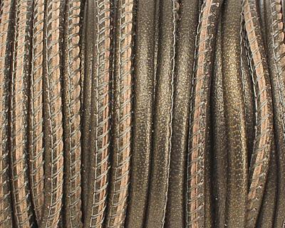 Tota (metallic) Stitched Nappa Round Leather Cord 2.5mm