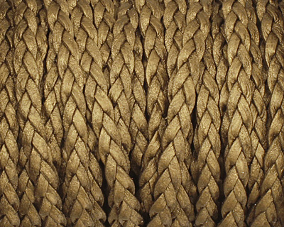 Kansa (metallic) Flat Braided Leather Cord 5mm
