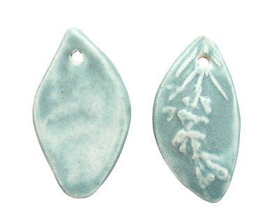 Gaea Ceramic Cerulean Rosemary Pendant 25-26x45-50mm