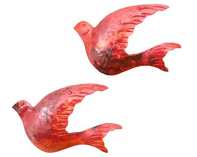Patricia Healey Copper Dove Pendant 43x27mm