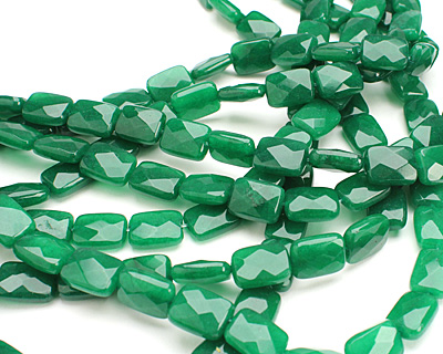 Emerald Colorful Jade Faceted Thin Pillow 16x12mm