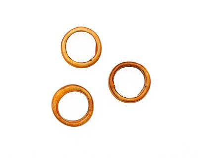 C-Koop Enameled Metal Mandarin on White Large Ring 16-17mm