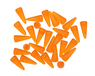 Czech Glass Matte Pumpkin Spike 5x13mm