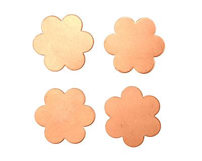 Copper Flower Blank 21mm