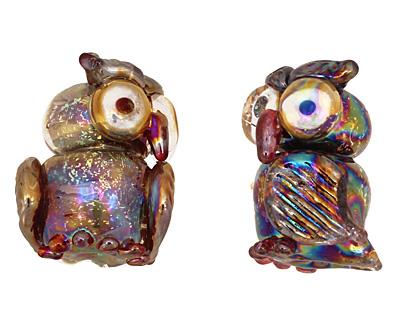 Unicorne Beads Flash Owl 23x18mm