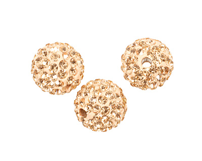 Silk Pave Round 10mm