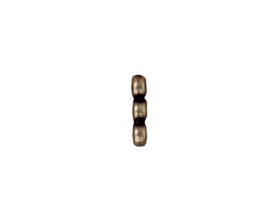 TierraCast Antique Brass (plated) Plain 3-Hole Bar 2x12mm