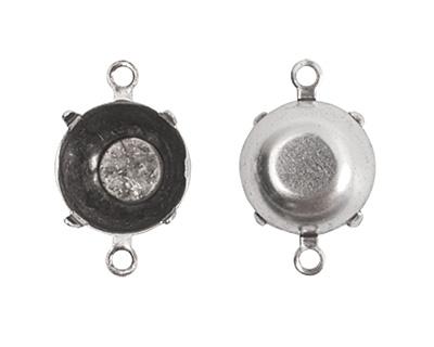 Nunn Design Antique Silver (plated) Circle Prong Setting 18x12mm