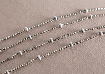 Stainless Steel White Satellite Chain