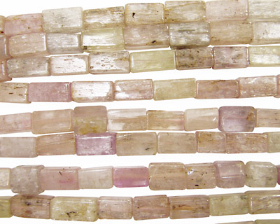 Kunzite Brick 12-20x9mm