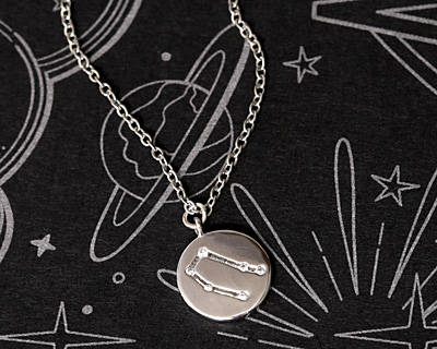 Rhodium (plated) w/ Crystals Gemini Constellation Charm 11x13mm