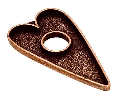 Nunn Design Antique Copper (plated) Grande Heart Bezel Toggle 52x29mm