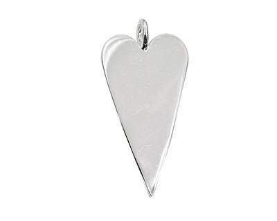Silver (plated) Heart Bezel 29x53mm