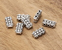 Zola Elements Antique Silver (plated) 3-Hole Studded Bar Bead 7.5x15mm