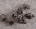 Greek Bronze (plated) Queen Conch Shell 4x14mm