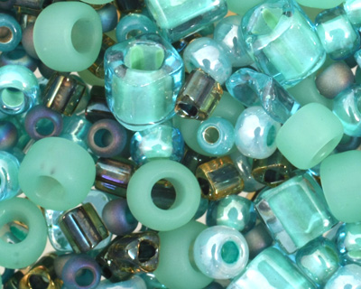 TOHO Take Seafoam/Green Seed Bead Mix