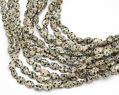 Dalmatian Jasper Flat Oval 14x10mm