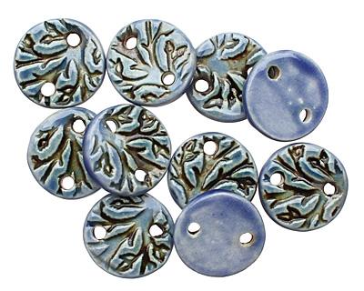 Earthenwood Studio Ceramic Blue Branch Link 18mm