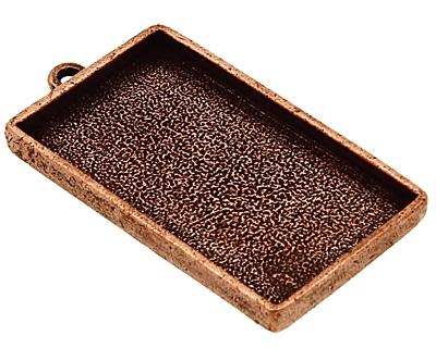 Nunn Design Antique Copper (plated) Grande Rectangle Bezel Pendant 46x25mm