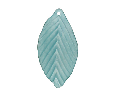 Lucite Marine Birch Leaf 18x35mm