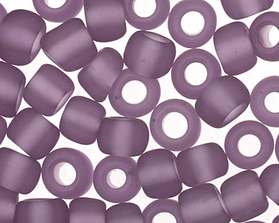 TOHO Transparent Frosted Sugar Plum Round 6/0 Seed Bead