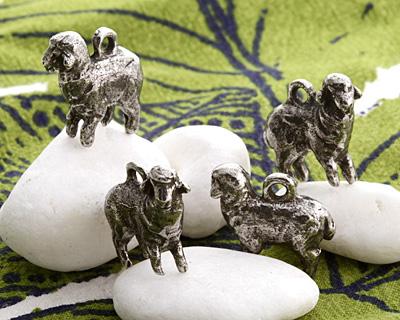 Green Girl Pewter Sheep 20x18mm