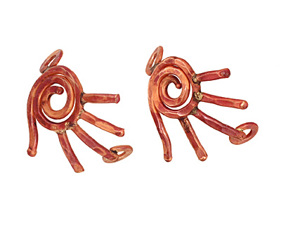 Patricia Healey Copper Left Hand Curved Link 32x31mm