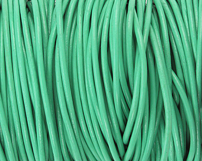 Mint Round Leather Cord 2mm