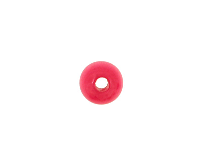 Tagua Nut Hot Pink Round 6mm
