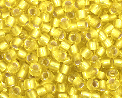 TOHO Lemon (with Frosted Silver Lining) Round 11/0 Seed Bead
