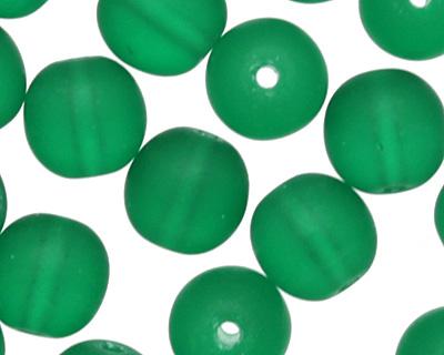 Czech Glass Matte Emerald Round 6mm