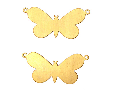 Brass Butterfly Blank Link 38x18mm