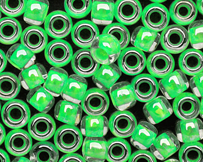 TOHO Luminous Neon Green Round 8/0 Seed Bead