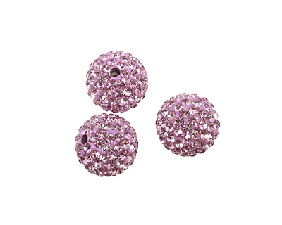 Lilac Pave Round 12mm