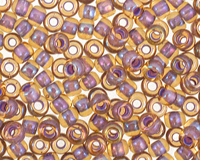 TOHO Light Topaz (with Opaque Lavender Lining) Round 11/0 Seed Bead