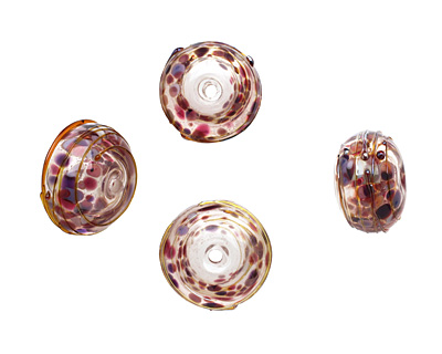 A Beaded Gift Girly Bling Glass Rondelle (hollow) 13-15x19-23mm