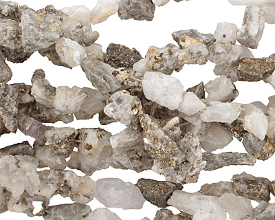 White Pyrite Quartz Rough Nugget 12-22x10-14mm