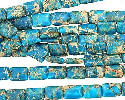 Ocean Blue Impression Jasper Thin Pillow 18x13mm
